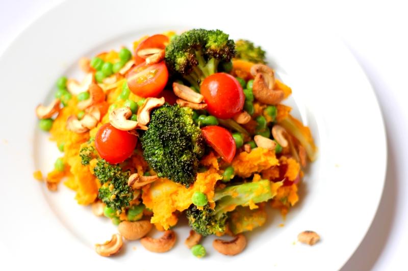 Recept zoete aardappelstamppot met geroosterde broccoli