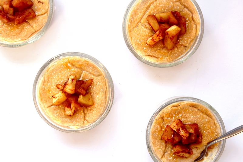 recept vegan crème brûlée met appel en kaneel