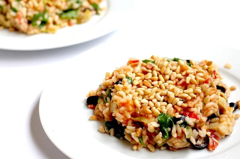 Recept tomatenrisotto met artisjok en olijven