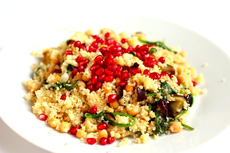 Recept simpele vegan couscous met granaatappelpitjes