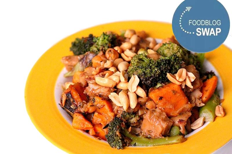 Recept vegan curry met zoete aardappel en broccoli