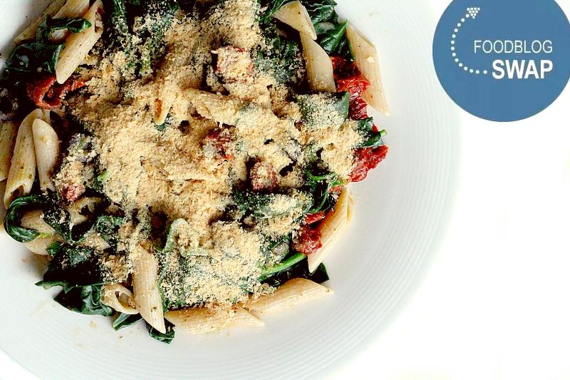 Recept vegan romige pastasalade met spinazie en pesto
