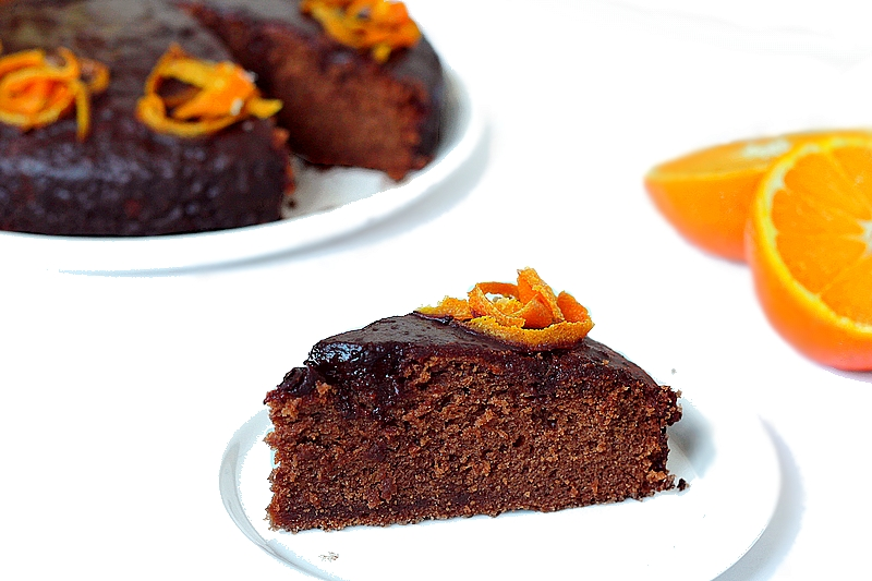 Recept vegan chocolade-sinaasappeltaart