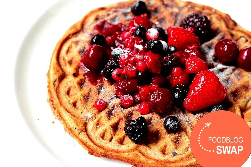 Recept vegan wafel met vruchten foodblogswap 1