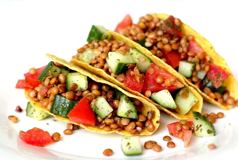 Recept vegan taco's met linzensalade 1